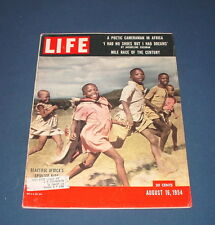 LIFE MAGAZINE AUG 16 1954 GREATEST MILE RACE ROGER BANNISTER SCORPION F-89D NAVY