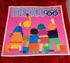 RARE 1968 MEXICO XIX SUMMER OLYMPIC GAMES,POP ART,SMALL CHILDREN,ORIGINAL POSTER