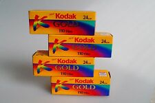 4 Rolls KODAK Gold 110 color print film ISO400 24 exposures
