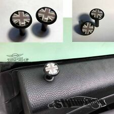 MINI ONE COOPER R55 R56 R57 R58 R59  TÜRPIN DOORPINS UNION JACK BLACK