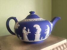 wedgwood jasperware dark blue Teapot