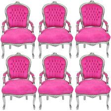 Große Mengen kleine PREISE BAROCKSTÜHLE: 6 x BAROCKSTUHL SILBER-Pink TOP-ANGEBOT
