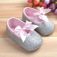 Gold/Silver Glitter Infant baby Shoes sneaker anti-slip soft sole For 0-18M Girl