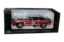 1969 MUSTANG BOSS 429 / 302 RACER DIE CAST 1/24 BLACK / RED #01 BY UNIQUE 18655