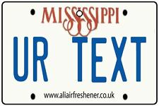 PERSONALIZED MISSISSIPPI CAR AIR FRESHENER