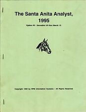 1995 THE SANTA ANITA ANALYST UPDATE 2   HORSE RACING