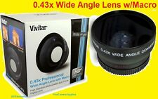 0.43x WIDE ANGLE LENS With MACRO 67mm HD4 for Camera  Camcorder Video .43x 67