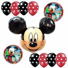 Birthday Party Supplies Mickey Mouse Foil Balloons Polka dots Decoration Anagram
