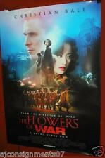 "The Flowers of War {Christian Bale} 40""X27"" Orginal INT Folded Movie Poster 2011"