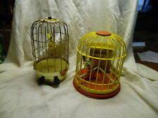 Vintage Bird Cage Toys 1-Wind up 1-Battery Operated