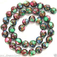 "8mm Natural Emerald Ruby Sapphire Quartz Round Beads 15""AAA"