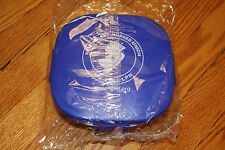 ☆NJ NURSES UNION LUNCH CONTAINER/SALAD BOWL IN PURPLE W/ SMALL DRESSING DISH