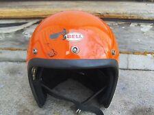 Vintage 1975 Bell Super Magnum Orange Motorcycle Helmet Size S/M