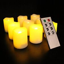 Candles w Remote Control Timer Flameless Indoor Outdoor Lights Safe Home Patio