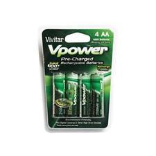 Vivitar VIVP4AA2100 4-Pack AA Alkaline Rechargeable Batteries