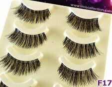 5 PAIA DI F17 FULL VOLUME SOFT BAND CIGLIA FINTE lunghe Partito FAKE Eye Lashes