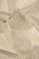 "Vintage Lace Fabric, Striped Green & Cream, 26"" by 54"", Cotton Blend"