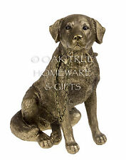 Walkies Labrador Statue Bronze Dog Ornament Dog Studies by Leonardo Boxed
