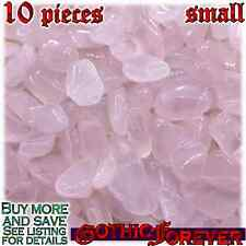 10 Small 10mm Combo Ship Tumbled Gem Stone Crystal Natural - Rose Quartz Pink