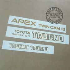 AE86 TOYOTA SPRINTER TRUENO APEX TWIN CAM 16, decal, sticker, vinyl, set, kit