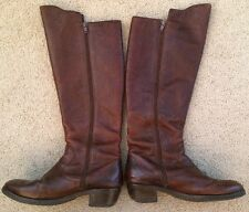 FARYLROBIN Brown Leather Riding Boots - Size 7 - Women's
