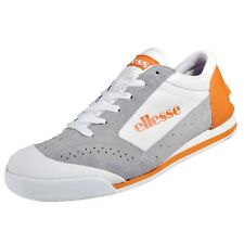 MEN'S ELLESSE Leather  Passo Trainers/Shoes/Sneakers White/Orange UK SIZE 9.5