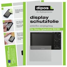 6x dipos Sony Cybershot RX100 / M II 2 screen protector protection anti glare