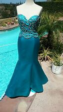 Sherri Hill style 2850 Turquoise size 4-Prom-Home Coming-Military Ball