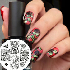 Nagel Schablone BORN PRETTY Nail Art Stamp Stamping Template Plates BP73