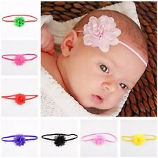 10Pcs Newborn Kids Girls Baby Toddler Chiffon Flower Hair band Headband Headwear