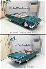 Danbury Mint 1961 FORD THUNDERBIRD CONVERTIBLE- NMIB/PAPERS/UNDISPLAYED COMPLETE