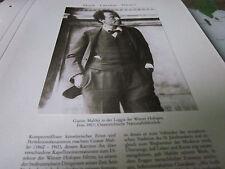 Wien Archiv 5 Kultur 3029 Gustav Mahler 1860-1911