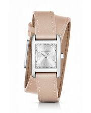 BRAND NEW MICHAEL KORS MK2440 TAYLOR SILVER DIAL PINK LEATHER WRAP WOMEN'S WATCH