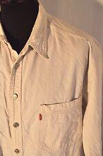 Vintage Levis white denim heavy cotton western shirt size XL grunge trucker