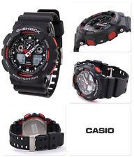 Negro Y Rojo Casio G-shock Resistente Al Agua Caballeros Reloj Deportivo 2 Años De Garantía