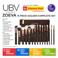 ZOEVA 15PCS Rose Golden Cosmetic Complete Eye Makeup Brush Set Kit V1 AUS STOCK
