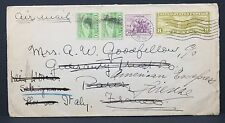 US Airmail COVER 13c rate to Italy Firenze FRANCIA PARIGI lettera (Lot-i-2967