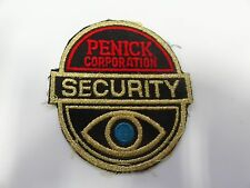LAW ENFORCEMENT PATCH SECURITY PENICK CORPORATION OLDER
