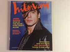 ANDY WARHOL'S INTERVIEW MAGAZINE- Javier Bardem January 2001