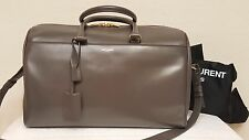 SAINT LAURENT Ysl 12 Hour Duffle  Long Strap Earth Gray Satchel bag NEW! $2750