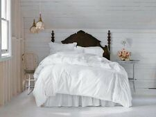 KING Simply Shabby Chic Duvet Cover Set WHITE Pieced LACE Mesh Shams New Opened