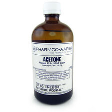 NC-0007 Acetone, ACS Reagent Grade, 16oz Solvent, De-Greaser, Laser Cleaning