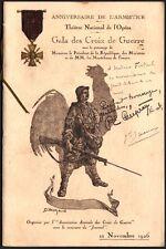 Programme. Militaria Gala des Croix de Guerre dédicacé Gal Mariaux. Leon Bakst