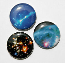 """3 OUTER SPACE - Buttons Pins Badges 1"""" Sci-Fi Cosmic"""