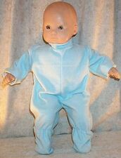 "Doll Clothes Baby Footed Pajamas fit American Girl Bitty 16"" inch Boy Blue"