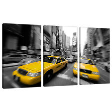 3 Part New York Canvas Pictures Black White Art NYC Cities Prints 3028