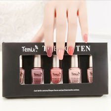 5Pcs/set 6ml Mini Nude Series Nail Art Polish Eco-friendly Varnish Design DIY