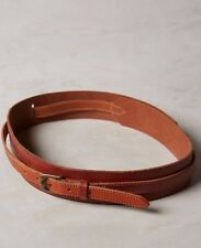 NWT Anthropologie Cedar Brown Corset Leather Wrap Belt Size Medium