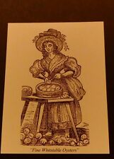 "POSTCARD. "" FINE WHITSTABLE OYSTERS "" From a original woodcut 1885"