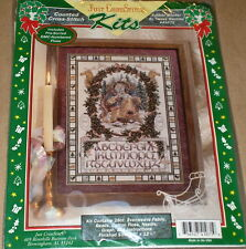 "Teresa Wentzler Xmas ""Father Winter"" Santa / Reindeer Cross Stitch Sampler Kit"